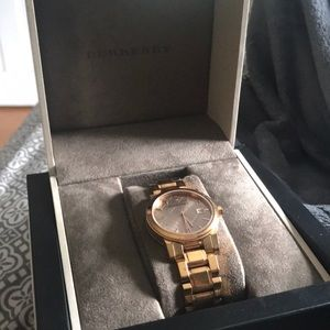 Burberry Accessories - Rose Gold Burberry watch